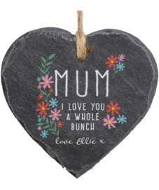 Personalised 'I Love You A Whole Bunch' Hanging Slate